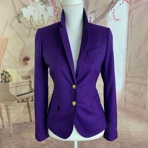 SOLD j Crew School Boy Wool Blazer In Purple